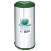 Угольный картридж  Aquafilter из скорлупы кокосовых орехов, с гранулами полопропиленового волокна и загрузкой KDF размер 10 ВВ